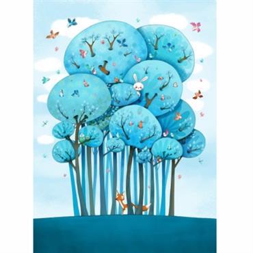 Papier peint enfant - Dans les arbres