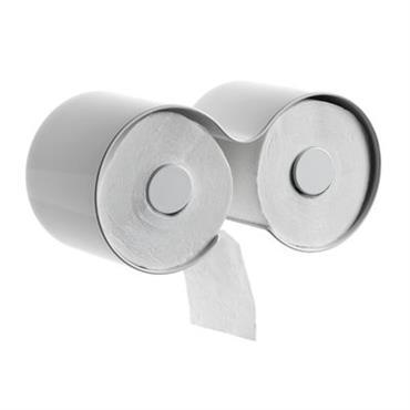 Dérouleur de papier toilette Kali - Authentics blanc en matière plastique