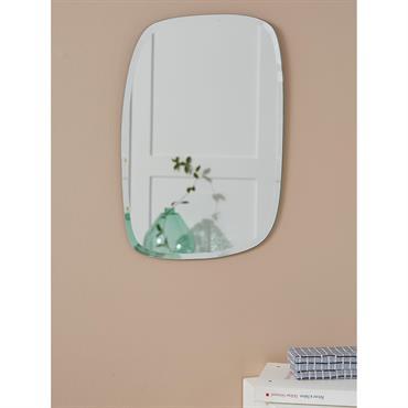 Miroir biseauté rectangle transparent