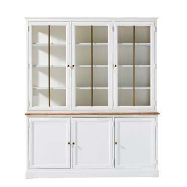 Vous aimez l'art de la table ? Le vaisselier 3 portes 3 tiroirs VALDI est le meuble qu'il vous faut ! Fabriqué en acacia et pin massif, ce vaisselier blanc ...