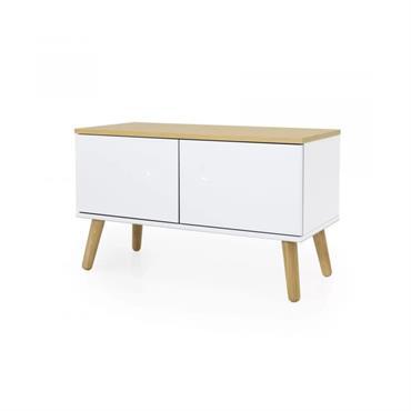 Petit meuble de rangement en bois Blanc