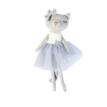 Peluche chat grise