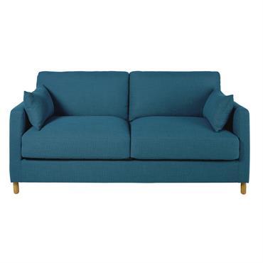 Canapé-lit 3 places bleu pétrole