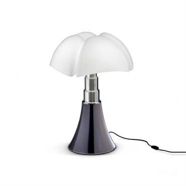 Lampe LED argentée avec variateur H35cm