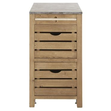 Ce produit est composé à partir de bois récupéré. Ce système permet d'offrir une deuxième vie à la matière première. Direction la campagne avec le meuble bas de cuisine 2 ...