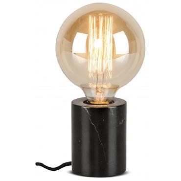 Lampe de table en marbre noir H10cm