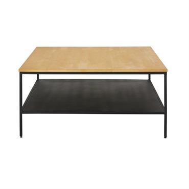 Prenez des éléments indus et placez-les sur un design sobre, vous obtiendrez la table basse double plateau en métal noir et manguier massif WAYAMPI . Vous allez adorer le contraste ...