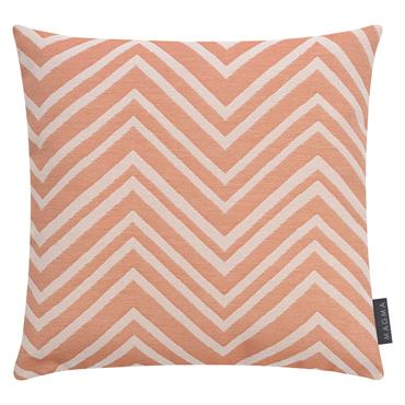 Housses de coussin zigzag orange outdoor Dralon-Lot de 2- 50x50
