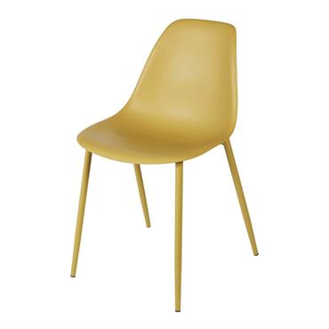 Chaise enfant style scandinave jaune Clyde