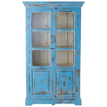 Créez votre décoration de charme avec la vitrine bleu turquoise Avignon . Travaillée à l'ancienne avec une patine bleu turquoise et un effet très vieilli, cette vitrine en bois affiche ...