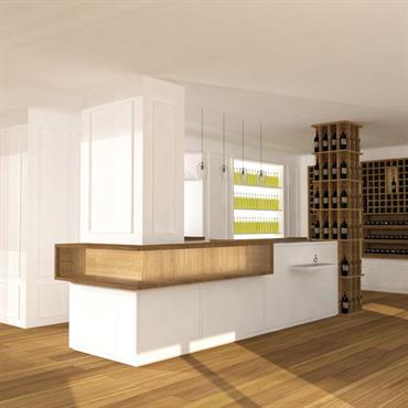 Aménagement d'une cave à vin à Bordeaux  Domozoom
