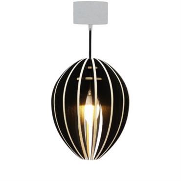 Fève - lampe à suspendre en bois