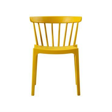 Chaise de jardin plastique moderne empilable jaune