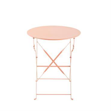 Table de jardin pliante en métal rose D58 Confetti
