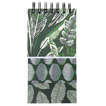 Bloc-notes à 3 niveaux vert à motifs