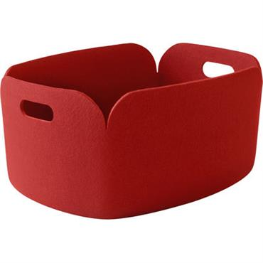 Panier Restore / Feutre - 35 x 48 cm - Muuto rouge