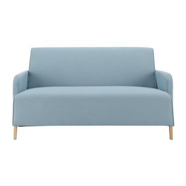Canapé 2 places en tissu bleu Adam