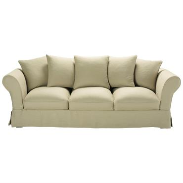 Apportez de la douceur à votre salon avec le canapé Roma convertible. Ce canapé coloris naturel se fond dans tous les types d'intérieur. Ce canapé 4/5 places vous offre une ...