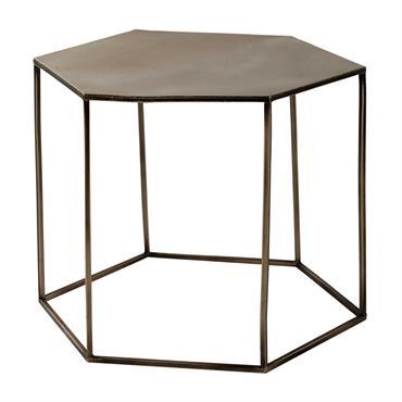 Table basse en métal cuivré L 60 cm Cooper