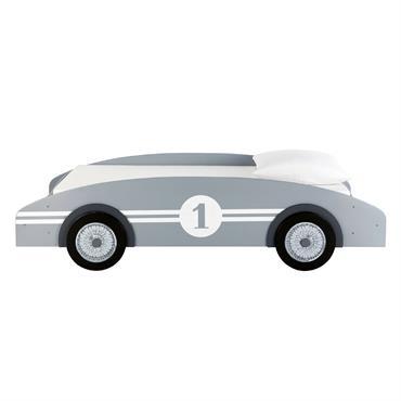 Lit voiture enfant 90x190 gris Circuit