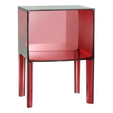 Table de chevet Small Ghost Buster - Kartell rouge en matière plastique