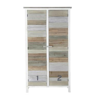 Comme lavée par les embruns, ce dressing en bois affiche un joli camaïeu de couleurs douces. Doté de 3 étagères fixes et d'une barre de penderie, ce meuble de rangement ...