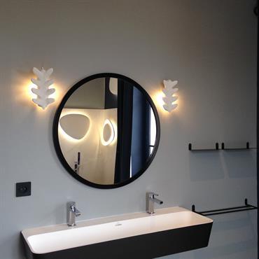 Coin lavabo noir et blanc design