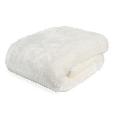 Plaid en fausse fourrure blanc 150 x 180 cm SNOWDOWN