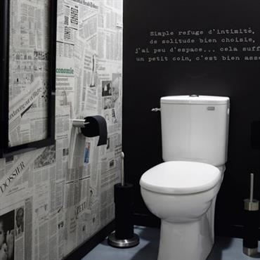 Des id es d co chic et sympas pour donner du style ses toilettes - Decor de toilettes wc ...