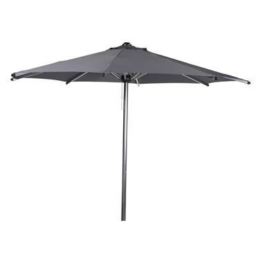 Vous cherchez un parasol sur pied moderne ? Vous allez aimer le parasol gris foncé Marbella. Ce magnifique parasol en toile est doté d'une structure aluminium et d'une toile 100 ...