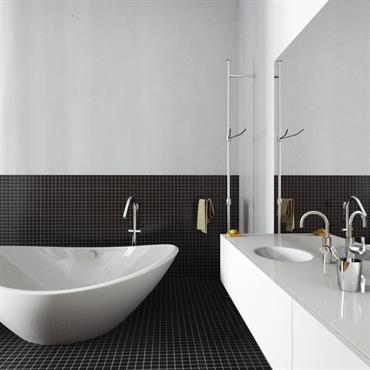 Salle de bain confortable et moderne