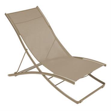 Chaise longue Plein Air / Pliante - 2 positions - Fermob Muscade