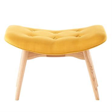 Pouf repose-pieds style scandinave jaune Iceberg