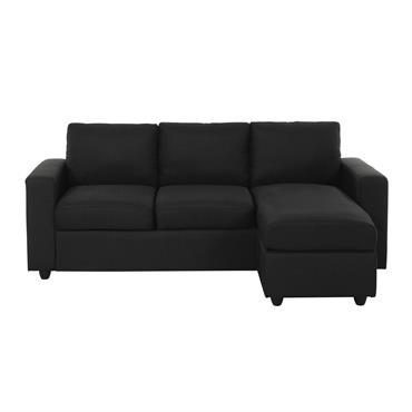 Canapé d'angle modulable 3 places gris anthracite Jules