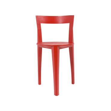Chaise Petite Gigue / Bois - Moustache rouge en bois