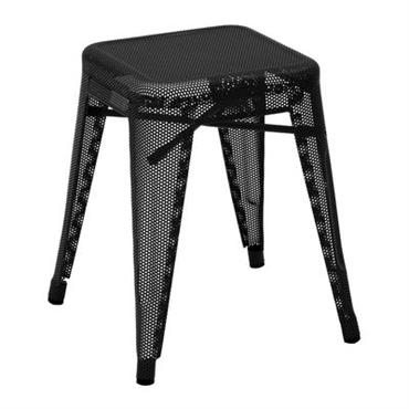 Tabouret empilable H Perforé / H 45 cm - Couleur brillante