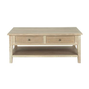 Table basse en paulownia gris Cavaillon