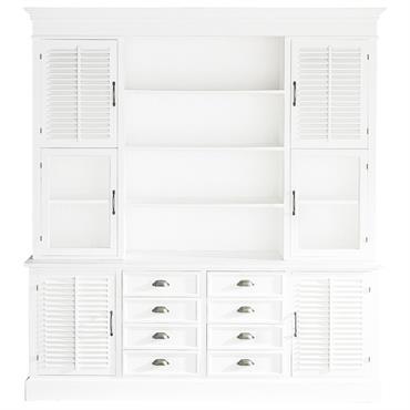 Vaisselier en bois blanc L 204 cm Cottage Club