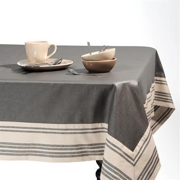 Nappe enduite grise 170 x 310 cm ORANGERIE
