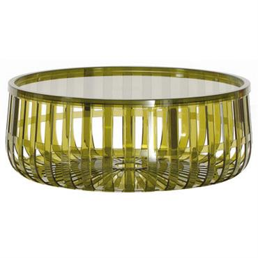 Table basse Panier / Coffre - Kartell vert foncé en matière plastique