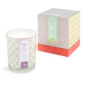 Bougie en verre parfum figue et miel H 10 cm ST AMAND