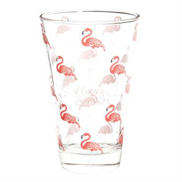 Verre haut en verre HAPPY FLAMINGO
