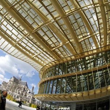 Canopée des Halles toiture de verre