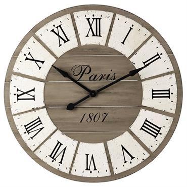 Horloge en bois D 92 cm ST GERMAIN
