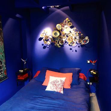 Chambre orientale bleue