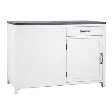 Dotée d'un vaste plan de travail en pierre bleue anthracite, ce meuble de cuisine est conçu pour occuper l'angle de votre pièce. Doté d'une façade pleine côté angle, ce meuble ...