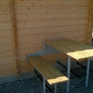 Table d'extérieur escamotable