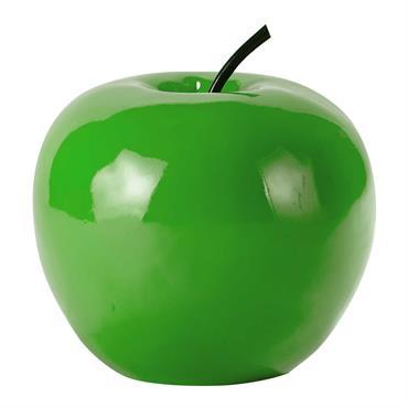 Pomme décorative en résine verte H 35 cm APPLE