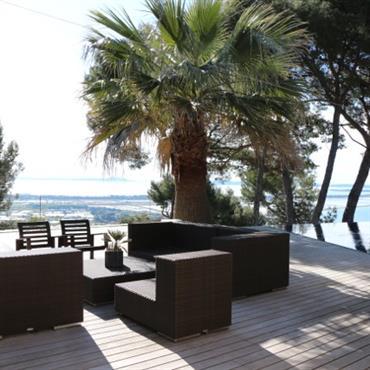 Terrasse à l'ombre du palmier