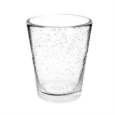 Gobelet en verre bullé
